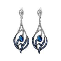 Сережки із срібла S-392-0121-E