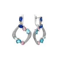 Сережки із срібла S-391-012545-E